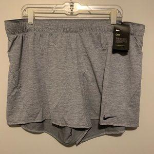 Women's NWT gray training athletic shorts size XXL